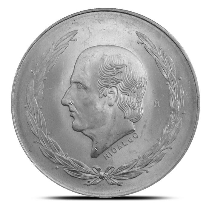 Mexican 5 Pesos Silver Hidalgo Coin