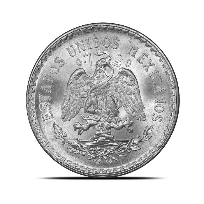 AU+ Mexico 1 Peso Silver Coin Reverse