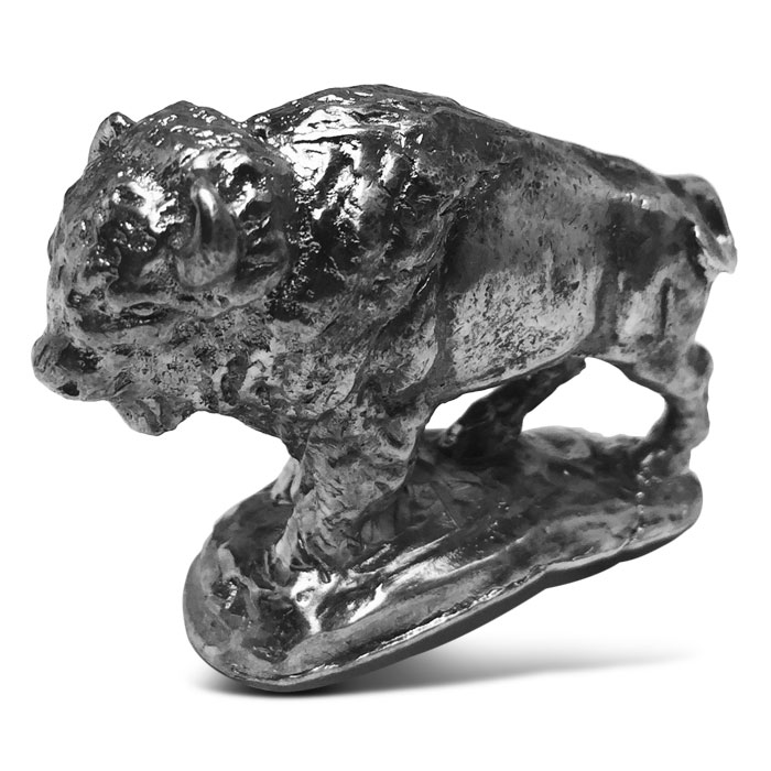 Bison 3.3 oz Cast Silver Figurine
