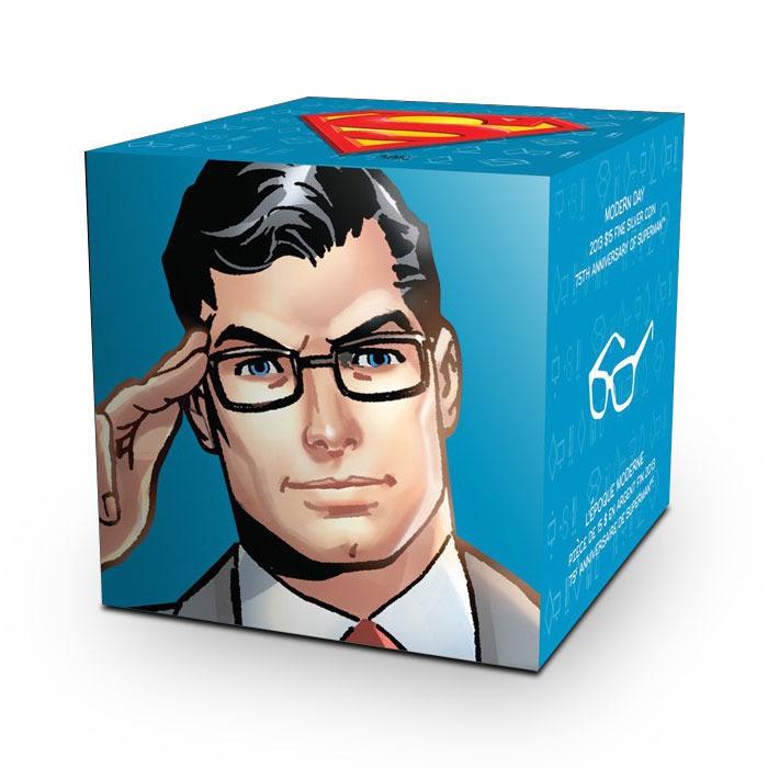 2013 Modern Day Superman 1/2 oz Silver Coin Graphic Box