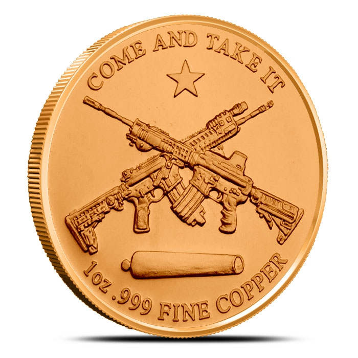 Molon Labe 1 oz Copper Rounds Reverse
