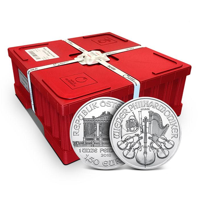2018 Austrian 1 oz Silver Philharmonic Monster Box | 500 Coins