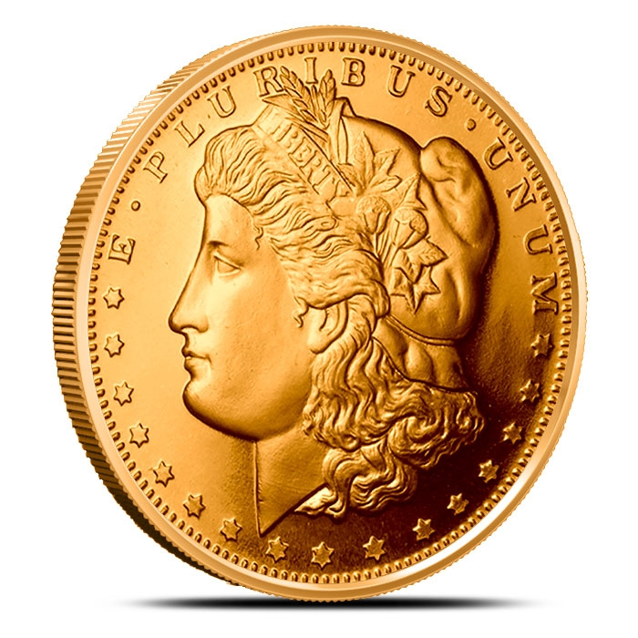 Morgan Dollar 1 AVDP oz .999 Fine Copper Bullion Round