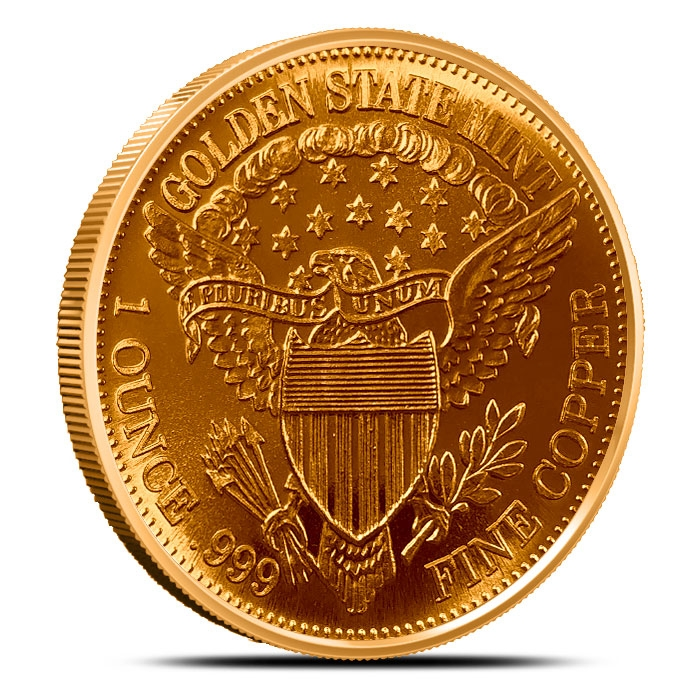 Morgan Dollar 1 AVDP oz .999 Fine Copper Bullion Round Reverse