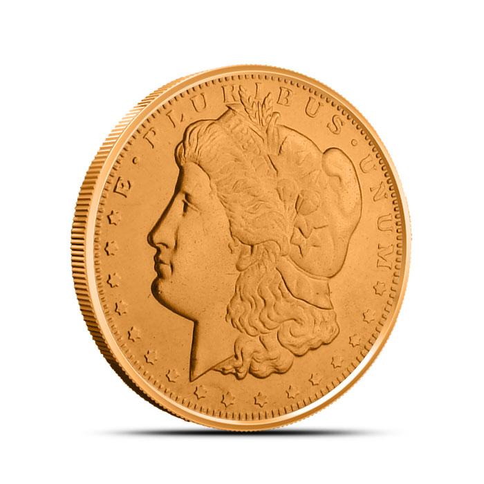 Morgan Dollar 1/2 oz Copper Round Obverse