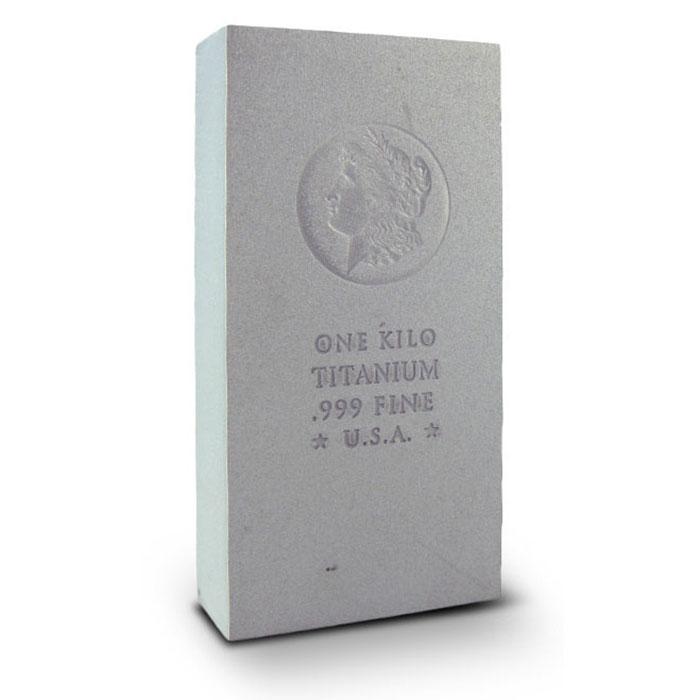 Morgan Dollar Design 1 Kilo Titanium Bullion Bar