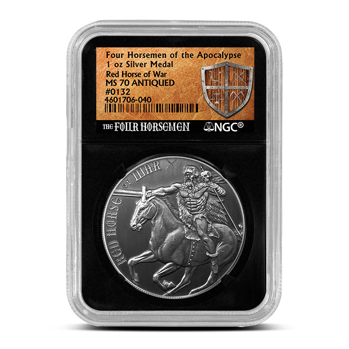Red Horse of War NGC Antiqued MS70