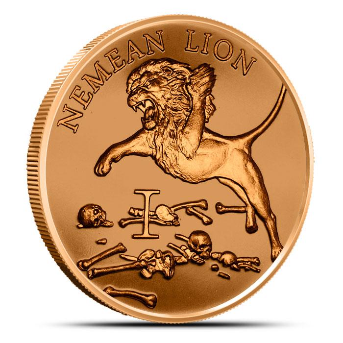 Nemean Lion 1 oz Copper Round - 12 Labors of Hercules