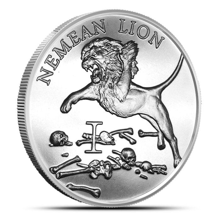 Nemean Lion 1 oz Silver Round - 12 Labors of Hercules