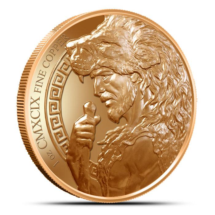 Nemean Lion Copper Round Reverse