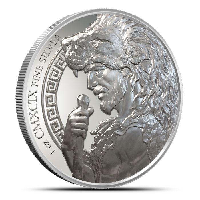Nemean Lion Silver Round Obverse