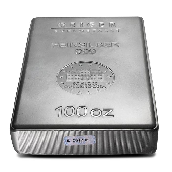 Geiger 100 oz Silver Bar Serial