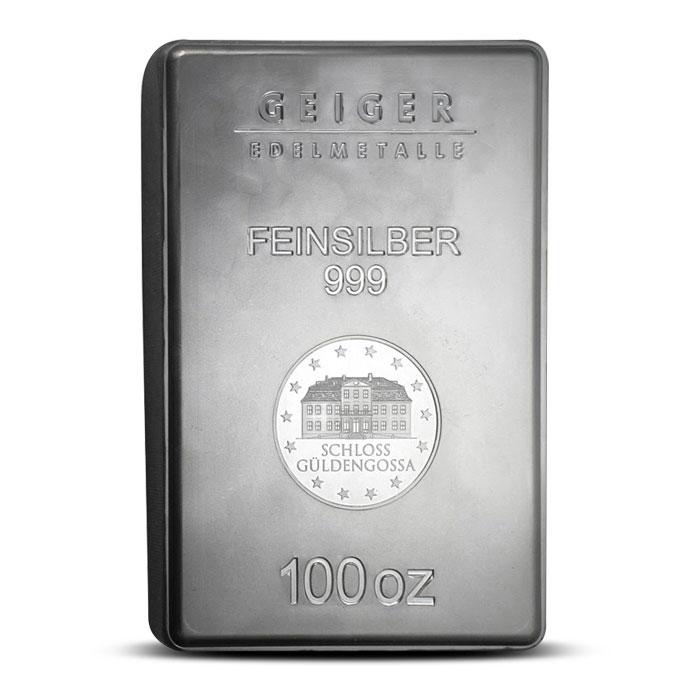 Geiger 100 oz Silver Bar