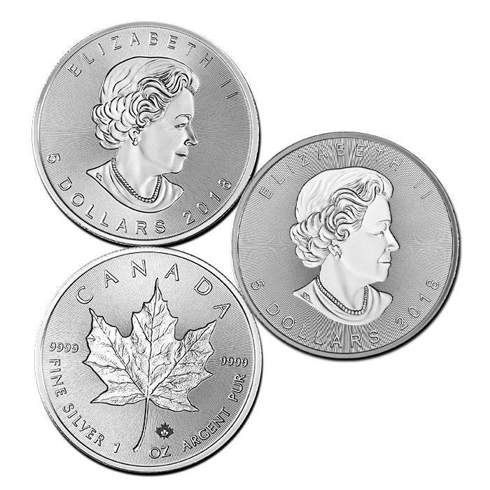 2018 Canada 1 oz Silver Incuse Maple Leaf