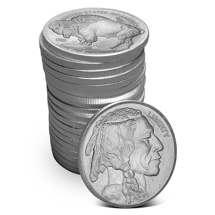 Roll of Provident Metals Buffalo Silver Rounds