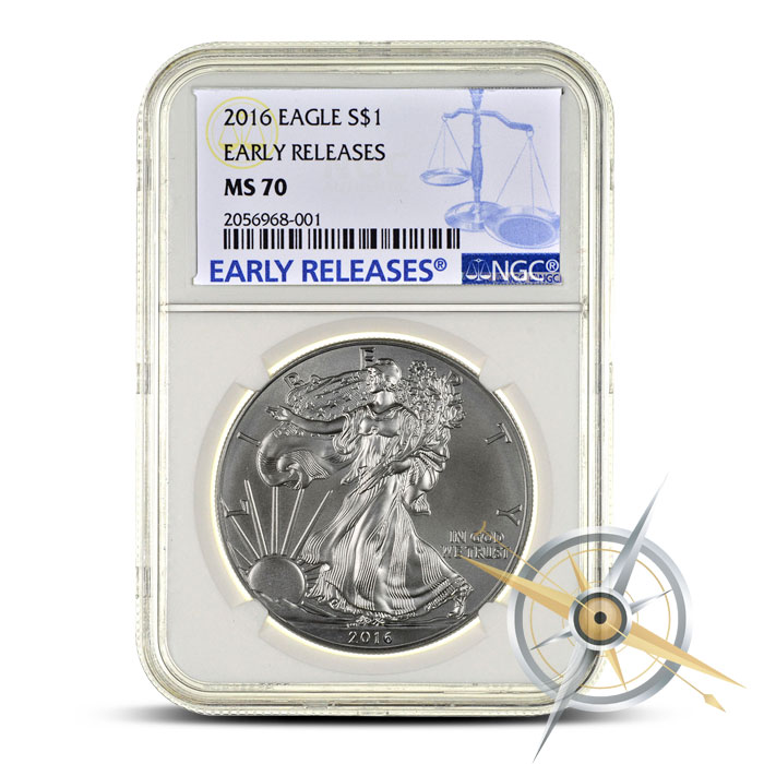 2016 1 oz American Silver Eagle NGC MS70 | Scale Label Early Release