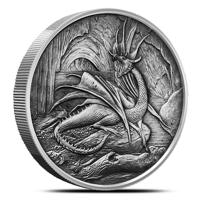 Silver Nidhoggr Coin