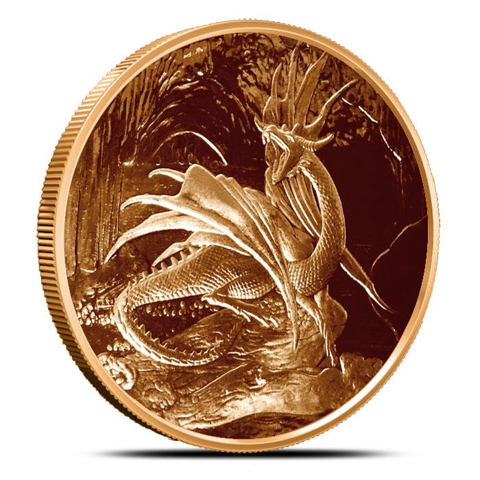 Copper Nidhoggr Coin