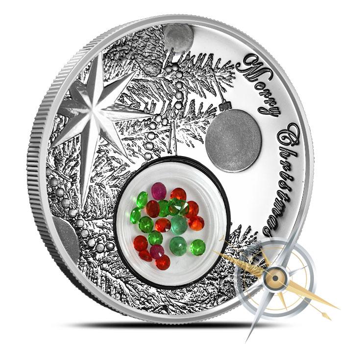 Christmas Ball Silver Coin