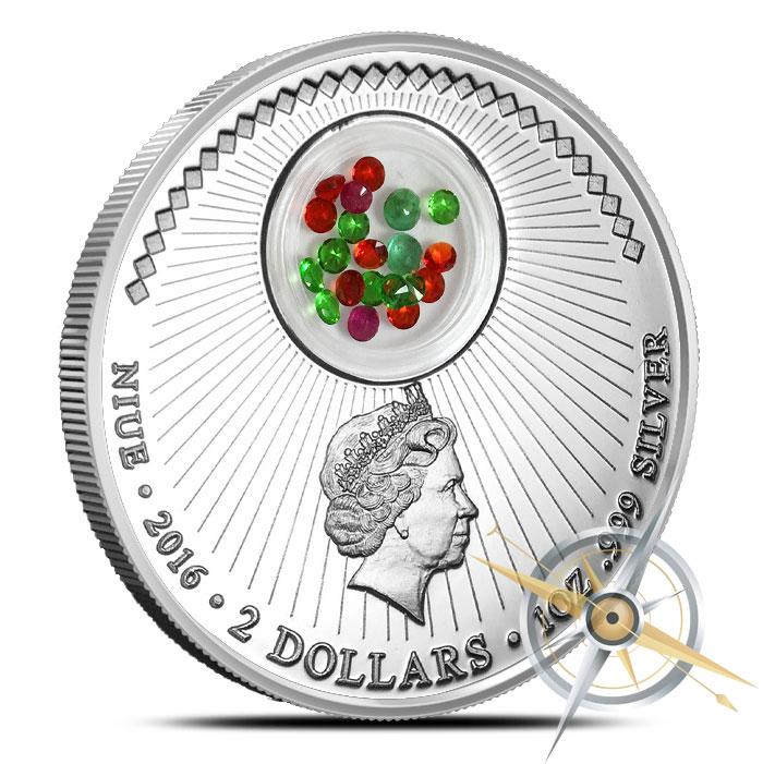 1 oz Christmas Ball Silver Coin