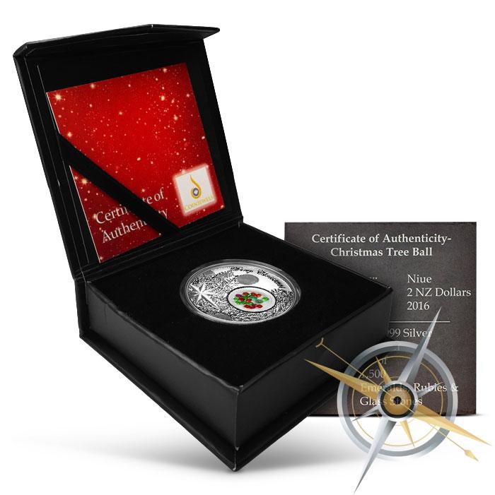 Christmas Ball Silver Coin | Box