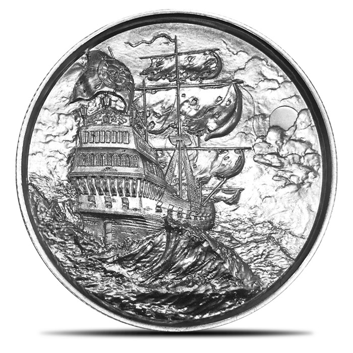 Roll of ten two ounce Privateer Silver Rounds
