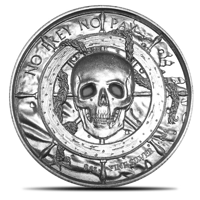 Roll of 10 2 oz Privateer Silver Rounds