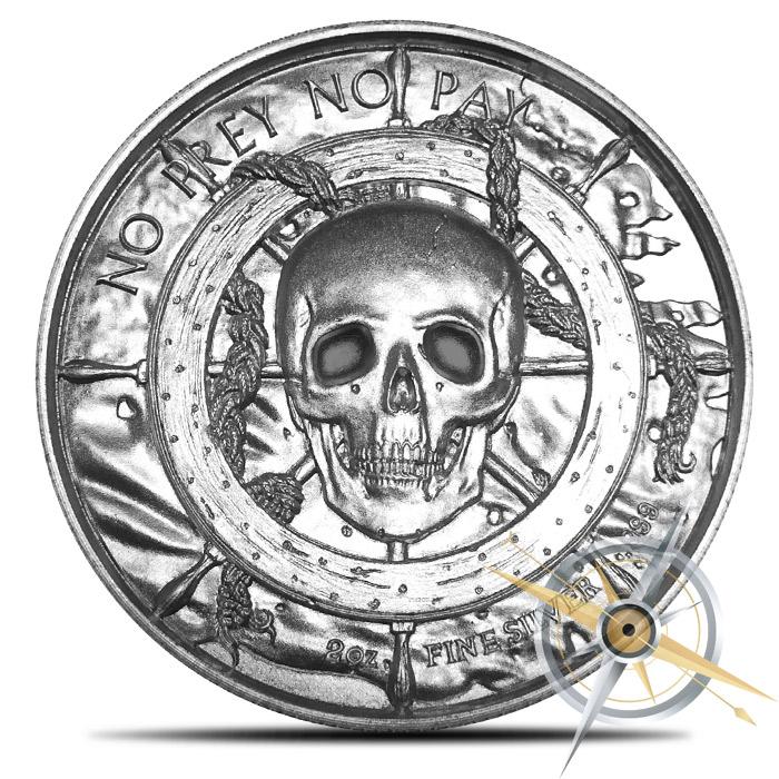 Kraken 2 oz Silver Ultra High Relief Round | Elemetal Mint