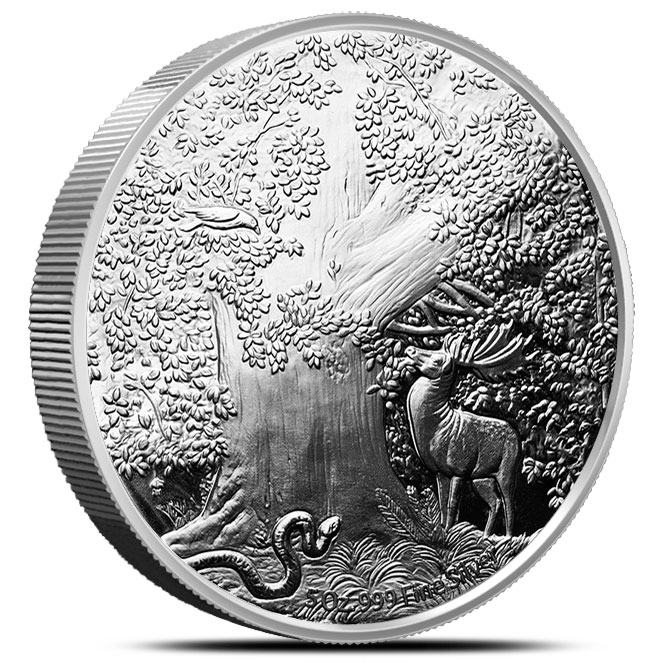 Nidhoggr World Tree Proof 5 oz Silver Reverse