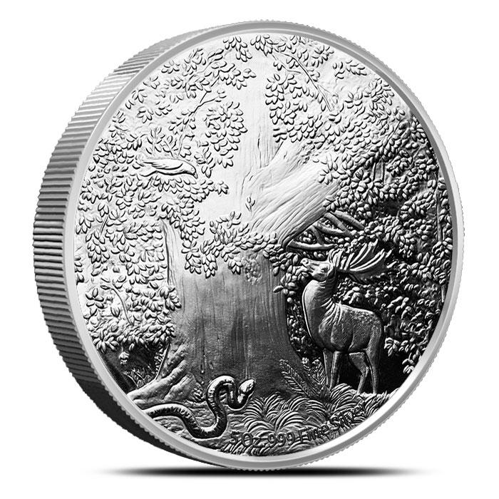 Great Eagle 5 oz Proof Silver Round