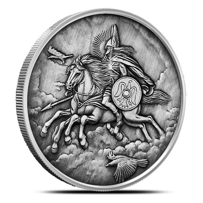 Sleipnir Silver Antiqued Round