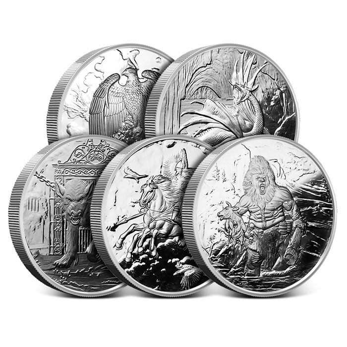 Nordic Creatures 5 oz Proof Silver Set