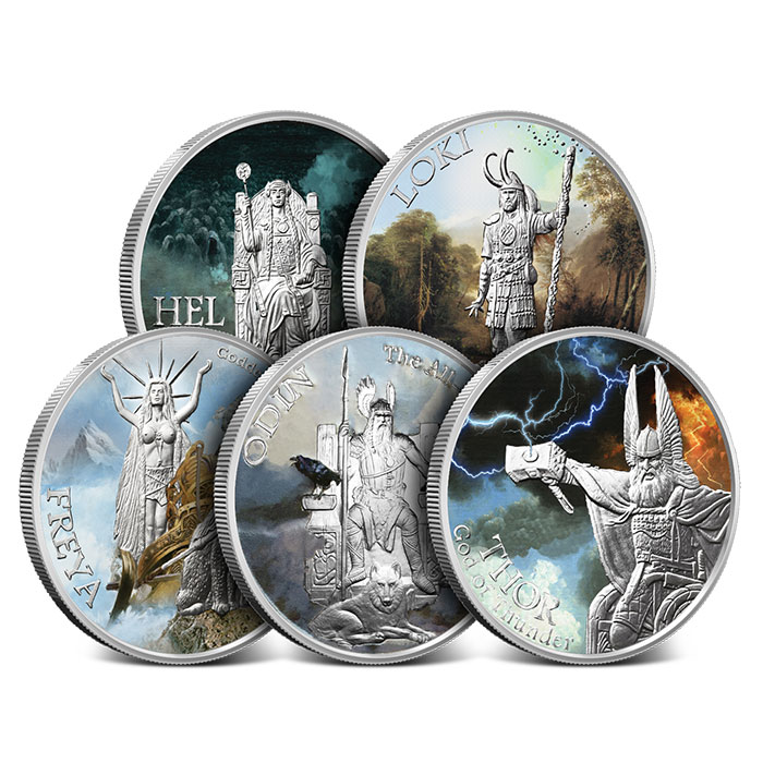 Norse Gods Silver Rounds