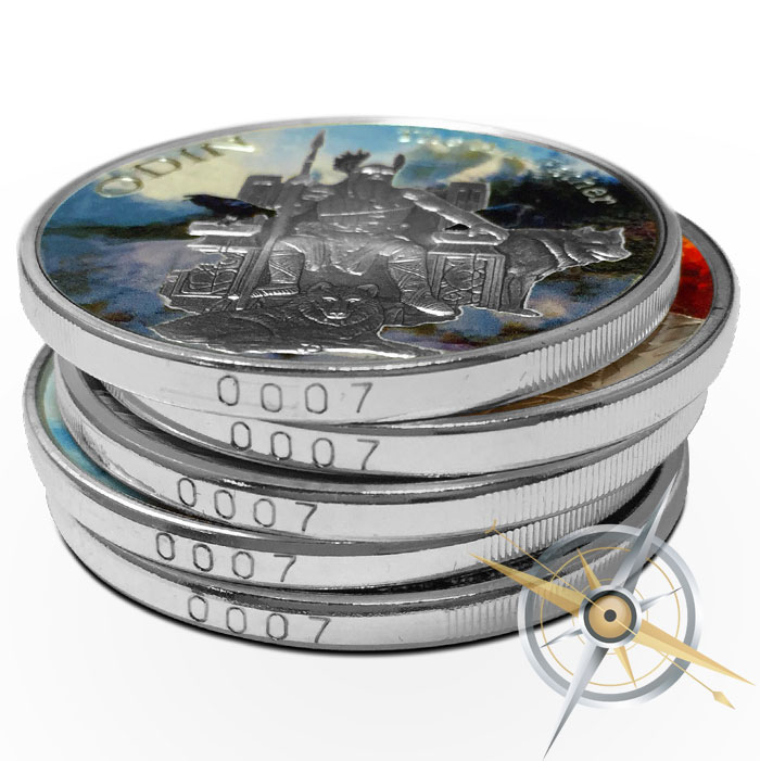 Norse Gods Silver Rounds | Edge Numbered