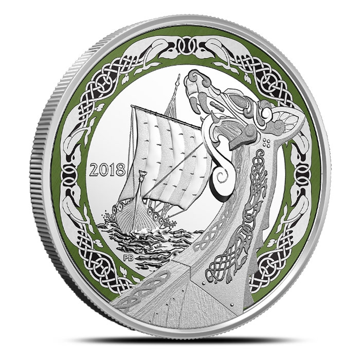 2018 Northern Fury 1 oz Silver Coin | Norse Figureheads