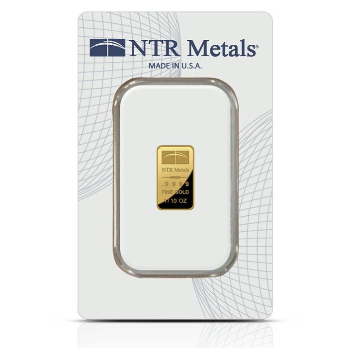 tenth ounce NTR gold bar obverse