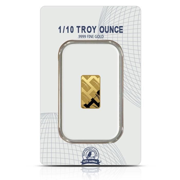 NTR one-tenth troy ounce gold bar reverse