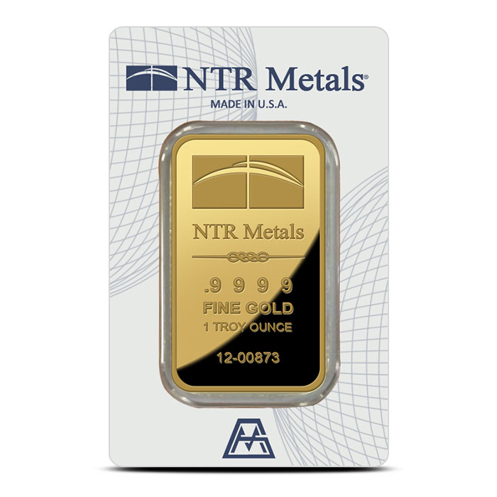 1 oz NTR Metals Gold Bar | .9999 Fine in Card-8290
