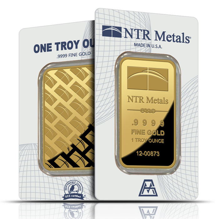 1 oz NTR Metals Gold Bar | .9999 Fine in Card-0