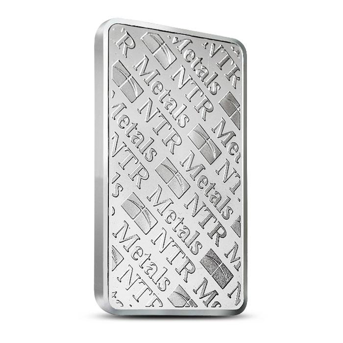 NTR 10 oz Silver Bar Reverse