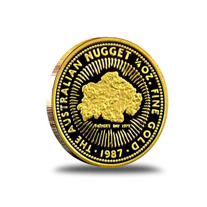 Australian Nugget 1/4 oz Gold Coin Obverse