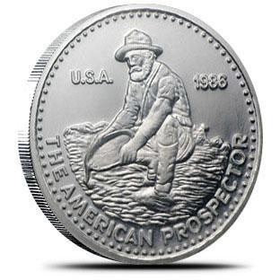 1 oz Platinum Engelhard Prospector Obverse