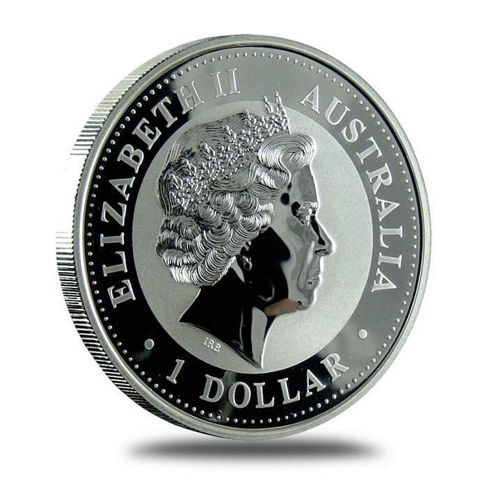 Perth Mint Lunar Series 1 2005 1 oz Silver Year of the Rooster Bullion Coin Obverse