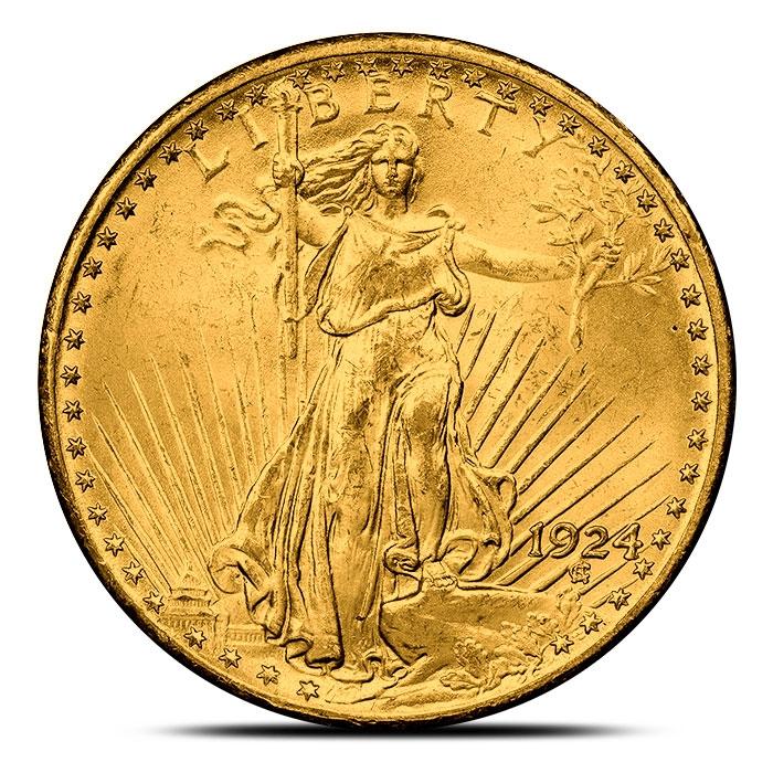 $20 Saint-Gaudens Gold Double Eagle Coin BU