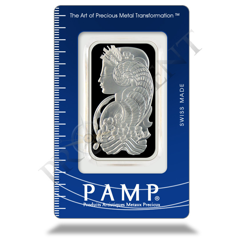 PAMP Suisse 50 gram Fortuna Silver Bar .999 Fine