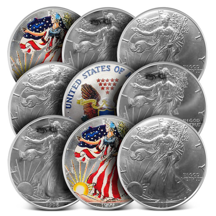 Off Quality American Silver Eagles