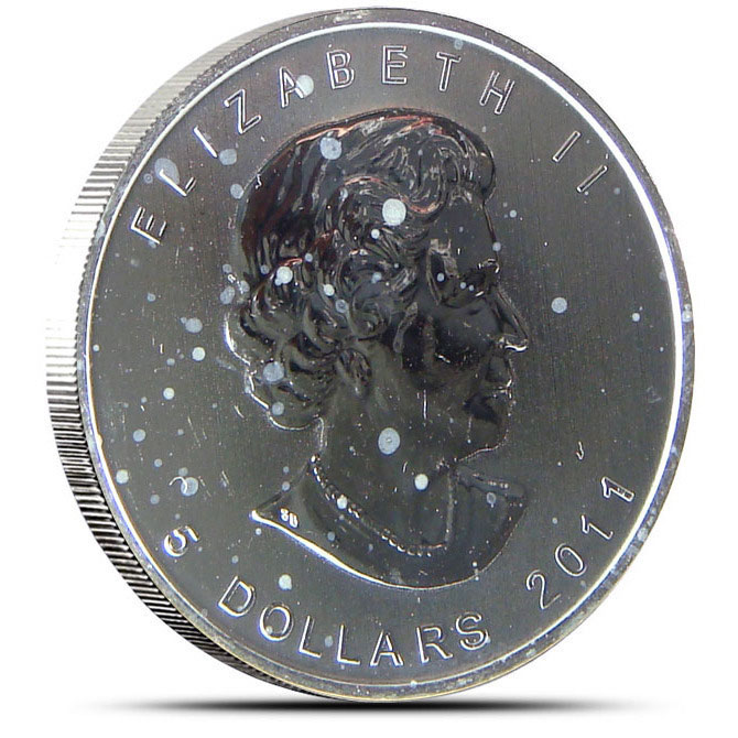 Off Quality 2011 Canadian 1 oz Silver Grizzly Reverse