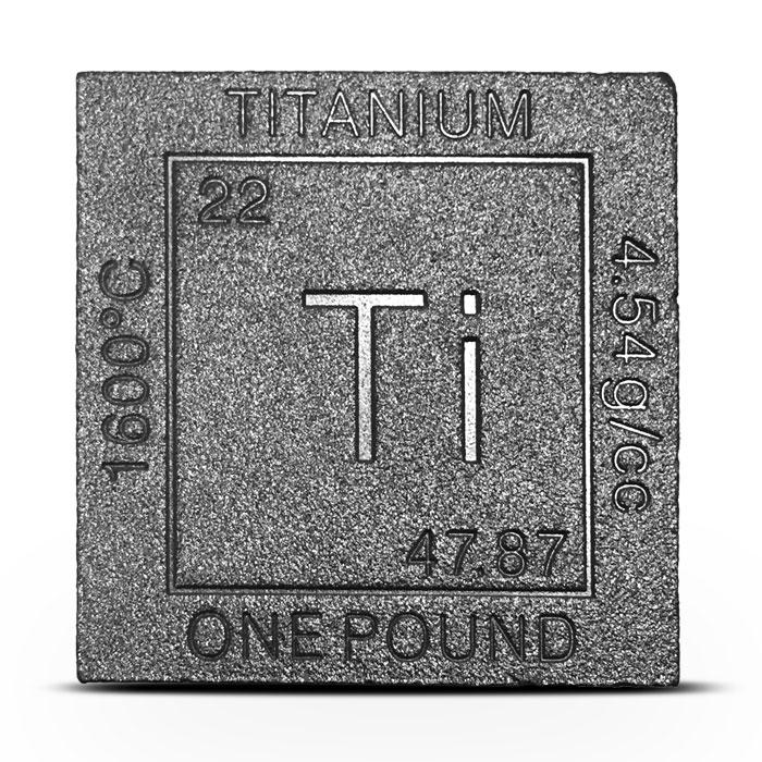 Titanium Cube | Czar Metals