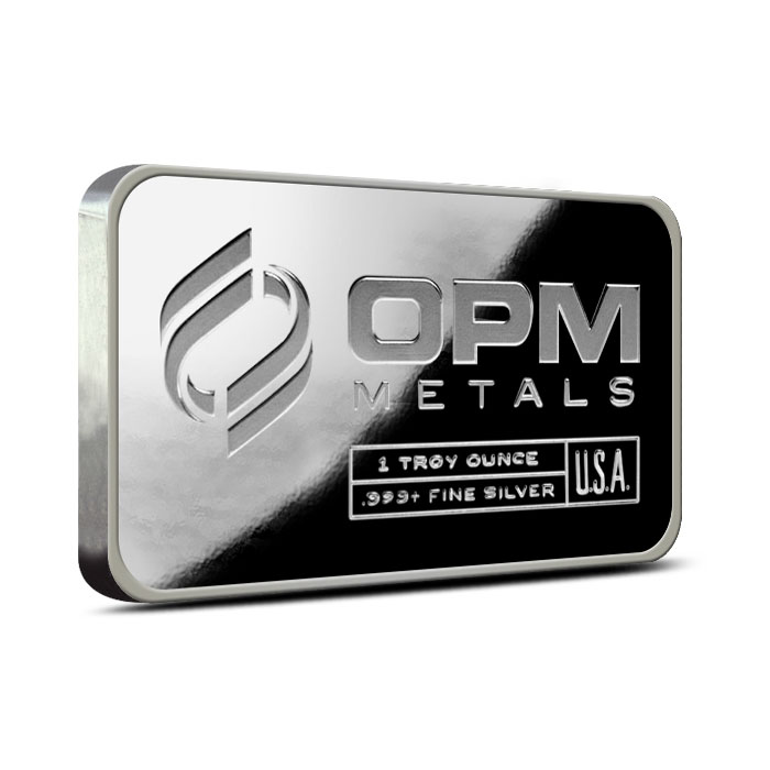 1 oz OPM .999 Fine Silver Bar