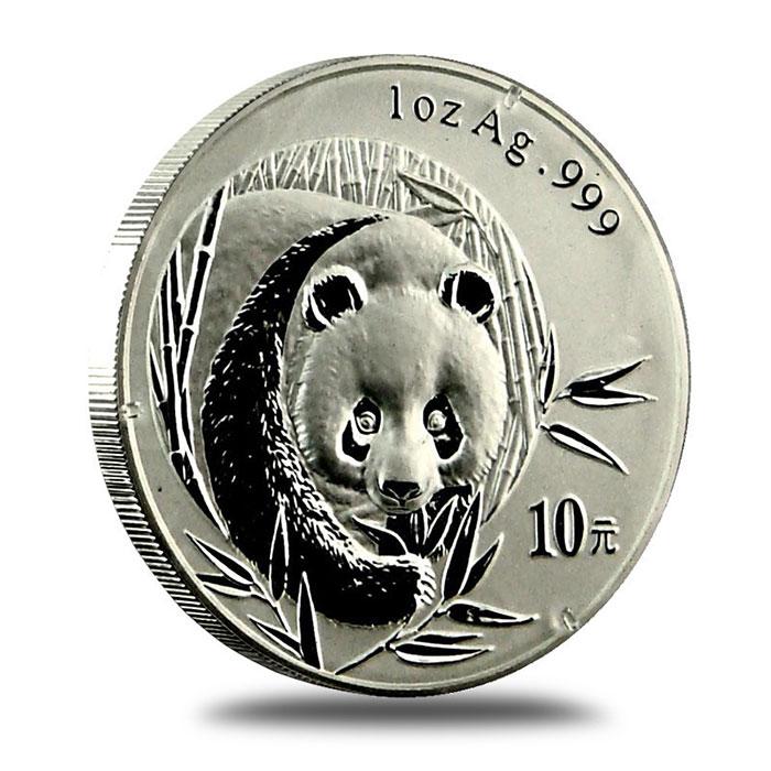 2003 China 1 oz .999 Fine Silver Panda Reverse